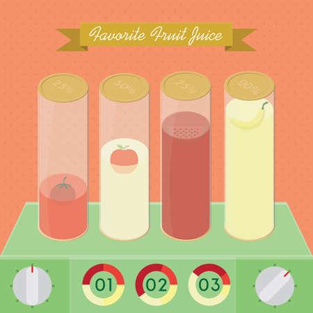 favourite: favourite fruit juice infographic