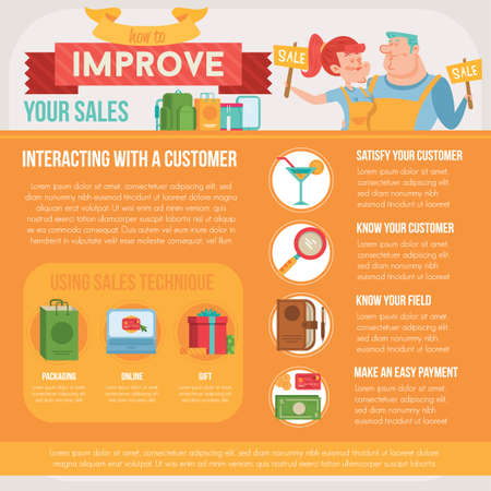 improve: improve your sales infographic Illustration