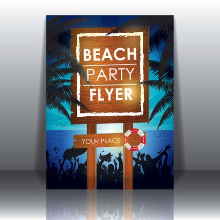 beach party: beach party flyer Illustration