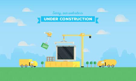 website under construction: website under construction Illustration