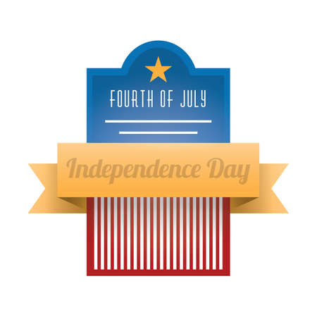 fourth of july: fourth of july independence day label