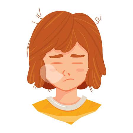 tired: girl feeling tired Illustration