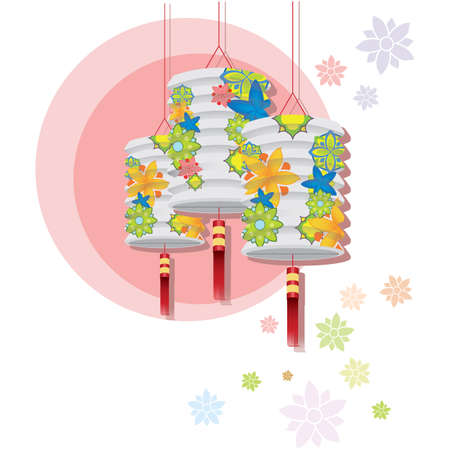 tassel: lantern hanging Illustration