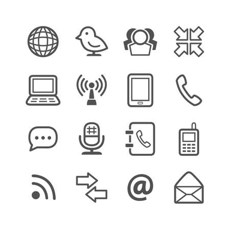 mobilephones: communication icons
