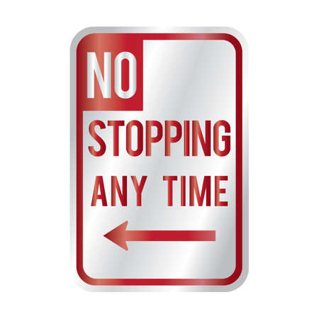 any: no stopping any time sign
