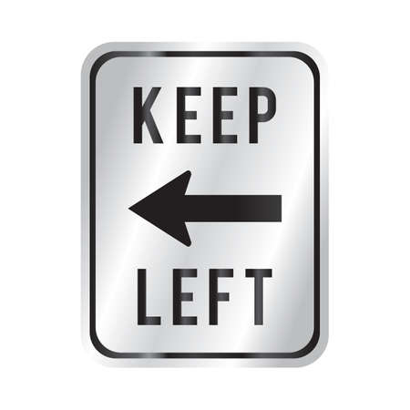 roadsigns: keep left Illustration