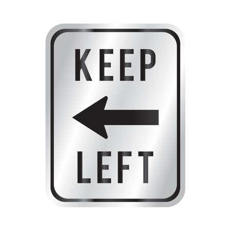 left: keep left Illustration