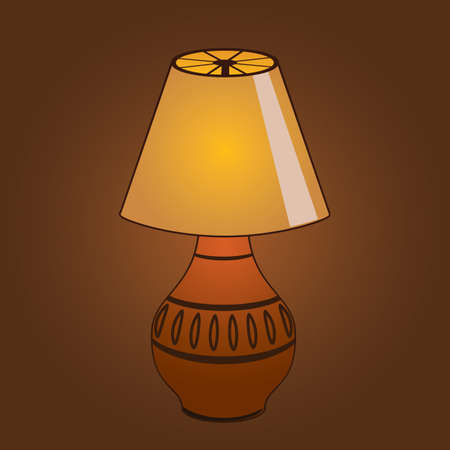 lampshade: bed lamp Illustration