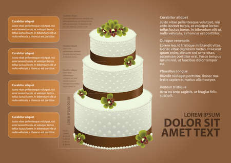 wedding cake: infographic of wedding cake Illustration