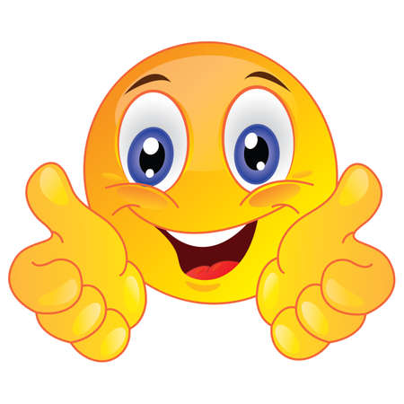 smiley pouce: visage montrant thumbs up smiley Illustration