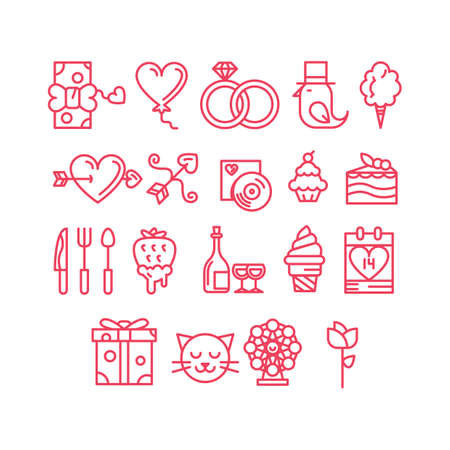 love song: valentines day icons Illustration