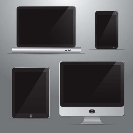 personal data assistant: technological devices Illustration