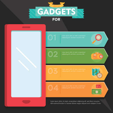 mobilephones: gadgets infographic Illustration