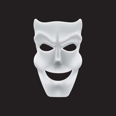 cunning: mask with cunning smile Illustration