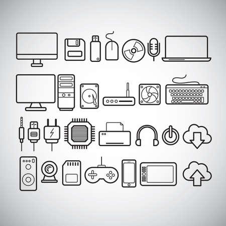 circuitboard: set of computer parts