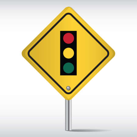signal pole: traffic signals Illustration
