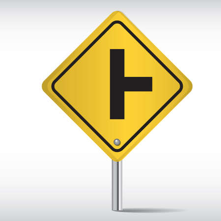 roadsigns: side road right sign Illustration