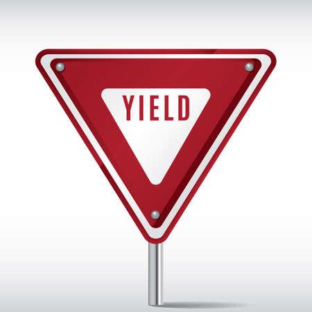 yield sign Illustration