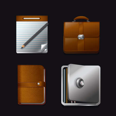 scribbling: set of office icons Illustration