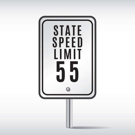 roadsigns: state speed limit fifty-five sign