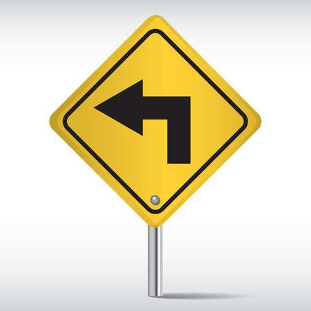 turn on: turn left