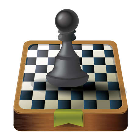 chess board: chess board with piece Illustration