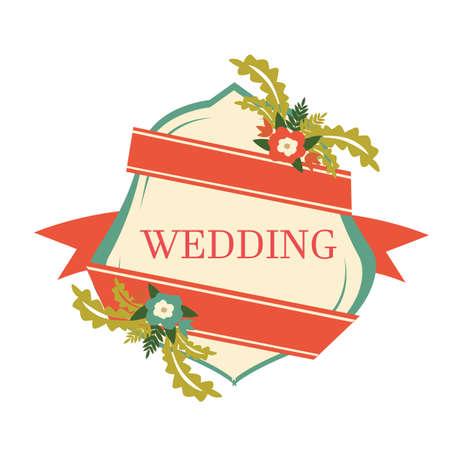 wedding: wedding label Illustration