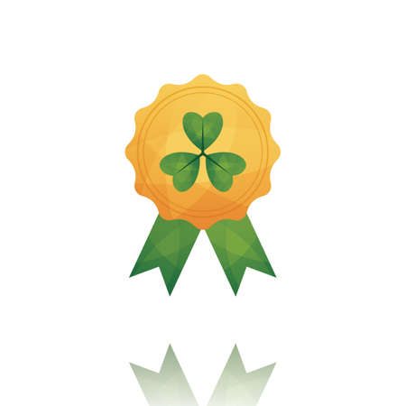 st  patrick's day: st patricks day badge Illustration
