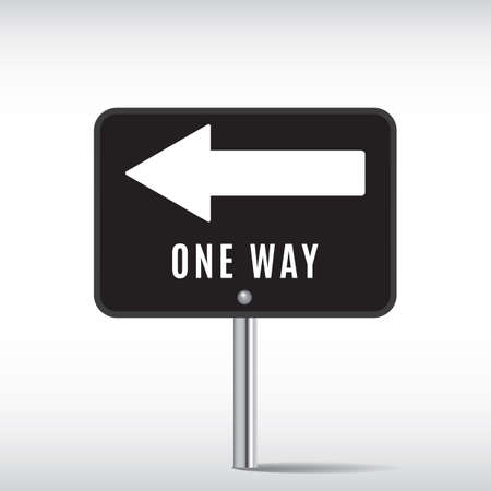 one way sign: one way