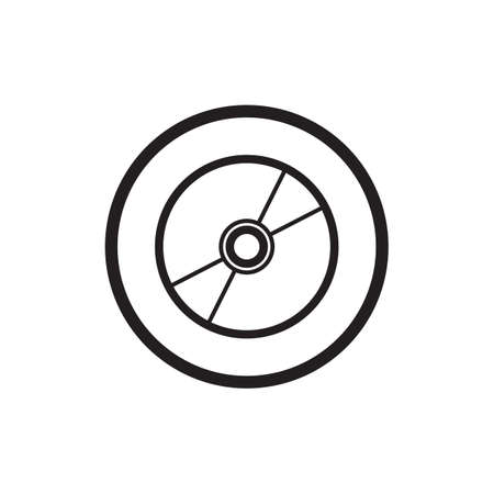 disc: compact disc icon Illustration