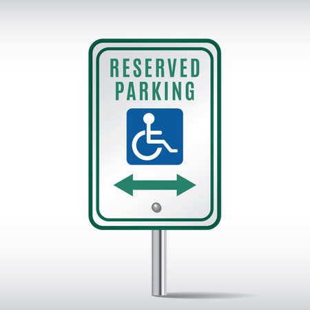 reserved: reserved parking Illustration