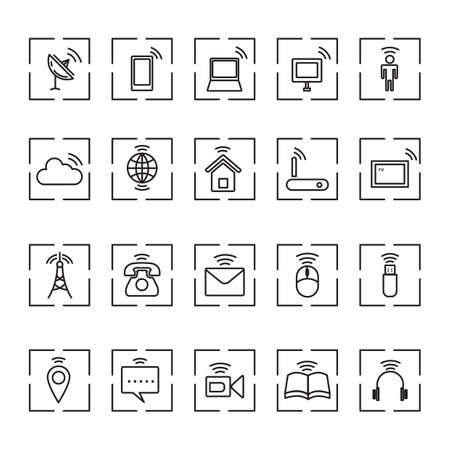 home video camera: technology icons Illustration