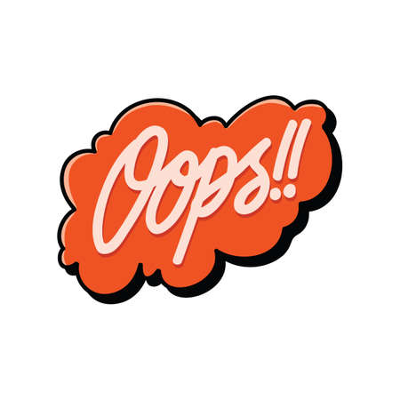 bulle comique avec le mot oops