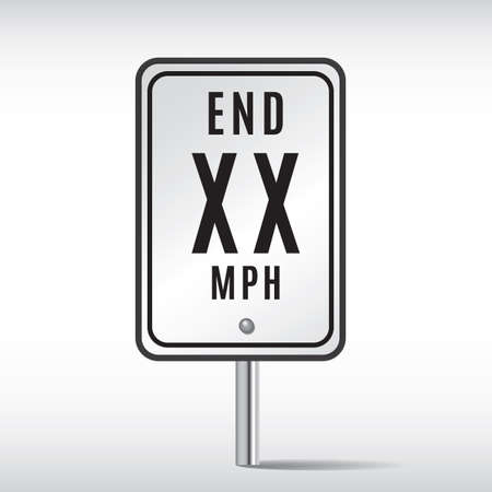 end of road: end road sign Illustration