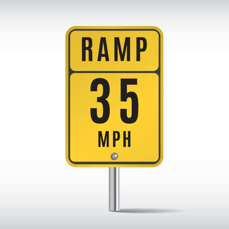 ramp: ramp 35 traffic sign