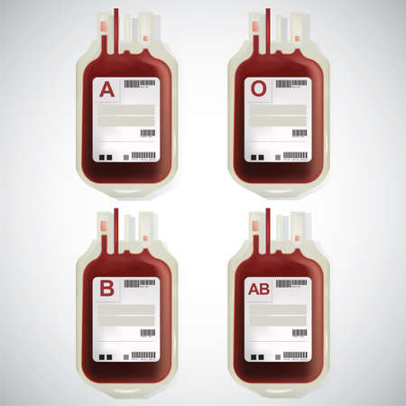 packets: blood packets Illustration
