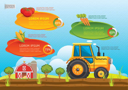 carrot tree: farm and agriculture infographic Illustration