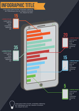 mobilephones: mobile phone infographic Illustration