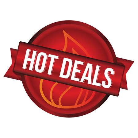 deals: hot deals label Illustration