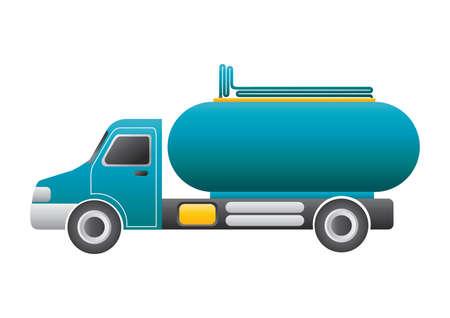 tanker: tanker truck Illustration