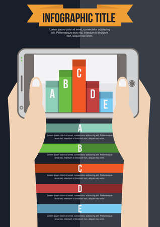 mobilephones: infographic title Illustration