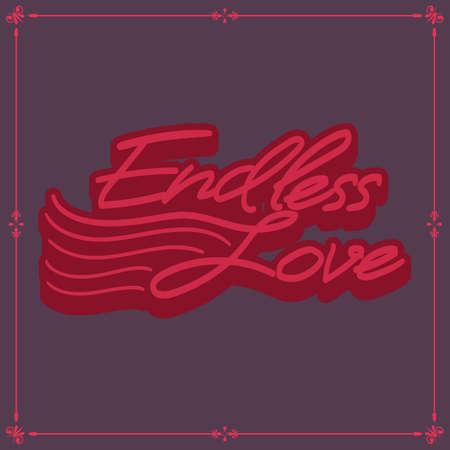 endless: endless love poster Illustration