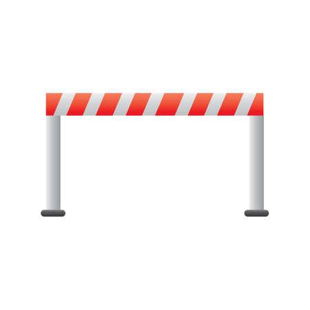 traffic barricade: road barrier Illustration