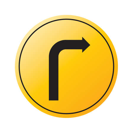turn on: right turn sign