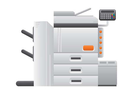 photocopy: photocopy machine Illustration