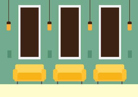 waiting room: waiting room Illustration