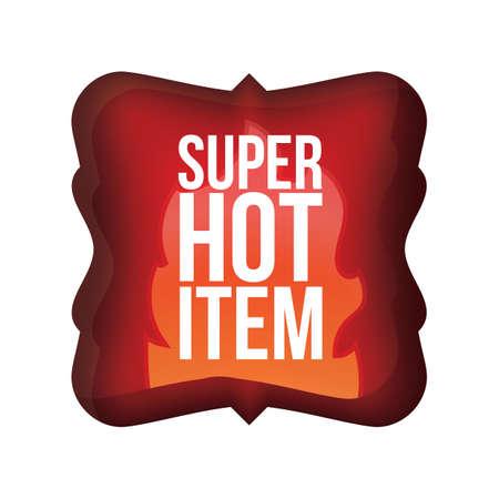 super hot: super hot item label Illustration