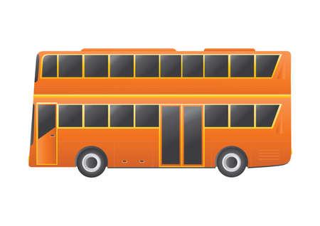 four wheeler: double decker bus