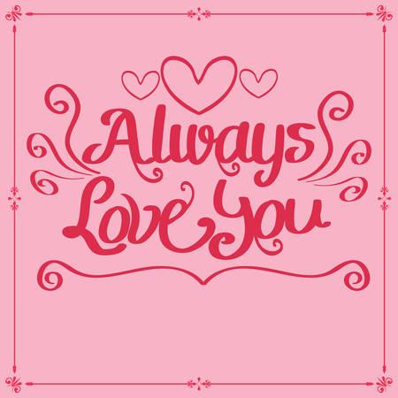 always: always love you card