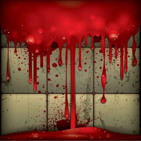 killing: blood dripping Illustration